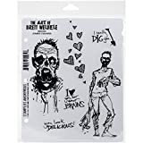 Stampers Anonymous Brett Weldele Cling Rubber Zombie Casanova Stamp Set, 7 x 8.5''