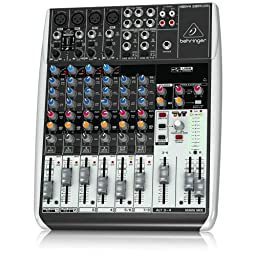 Behringer Q1204USB 12-Input 2/2-Bus USB Audio Interface Mixer with Mic Preamps, Compressors