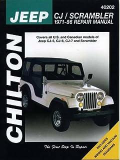 Jeep Cj Rebuilder's Manual 19721986 Mechanical Restoration Unit. Jeep Cjscrambler 197186 Chilton Total Car Care Series Manuals. Jeep. Vacuum Diagram 1983 Jeep Cj At Scoala.co