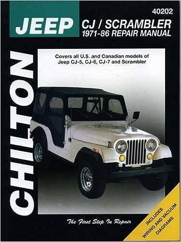 79 cj5 vacuum diagram jeep cj scrambler  1971 86  chilton total car care series manuals  jeep cj scrambler  1971 86  chilton