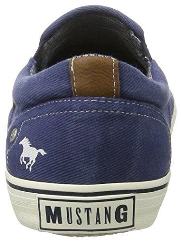 Mustang 4103-401-800, Mocasines para Hombre Azul (800 Dunkelblau)