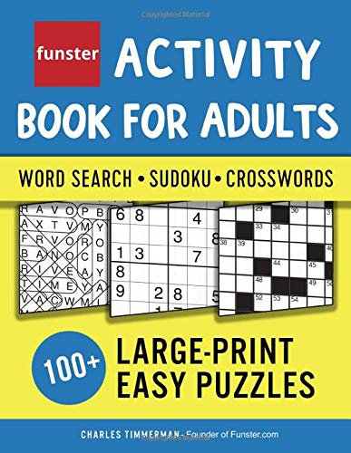 Funster Activity Book Adults Large Print product image