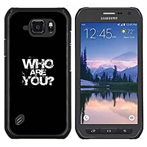 Caucho caso de Shell duro de la cubierta de accesorios de protección BY RAYDREAMMM - Samsung Galaxy S6Active Active G890A - Quién eres