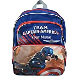 Personalized Marvel Comic Captain America Civil War Movie Team Captain America with Shield Backpack Book Bag - 16 Inches