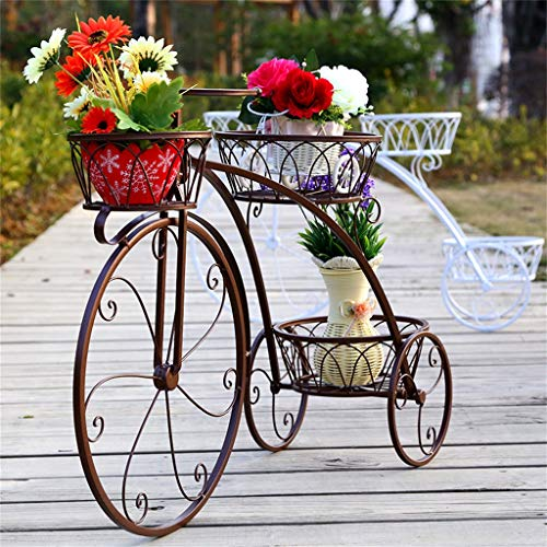 (KHJBGXHJ Cycling Plant Stand Flower Pot Holder Suitable for Home, Garden, Terrace, Coffee Shop Display Stand - Parisian Style)