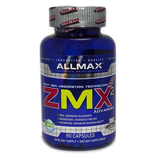ALLMAX Nutrition ZMX2, Next Gen Absorption Technology, 90 - Zma Nutrition 90 Capsules