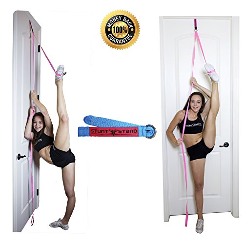 STUNT STAND BEST SELLING Door Flexibility & Stretching Leg Strap - Great for Cheer, Dance, Gymnastics or ANY Sport! FREE How-To-Use Links Included ...