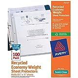 Avery Economy Semi-Clear Sheet Protectors, Acid-Free, 100 Protectors (75537)