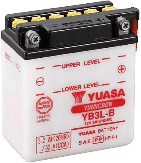 Batterie FULBAT YB3L-A 12V 3Ah 32A Longueur 56 x Hauteur 110 mm 98 x Largeur