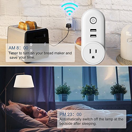 Alexa Smart Plug,Wireless Remote Control Smart Wall Socket w
