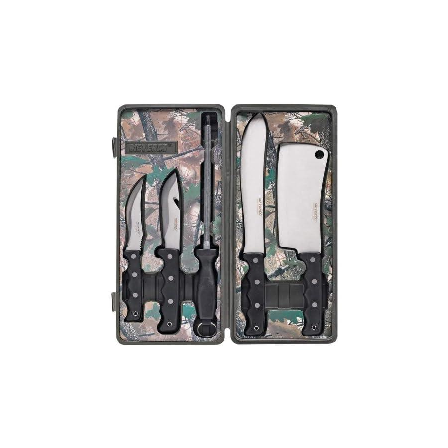 Meyerco 5 Piece Field Butcher Dressing Big Game Deer Processing Hunting Kit Knife Set