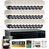 GW Security 32CH HD 720P DVR Security Systems, Motion Detection, 32 Day Night 1920TVL Video Infrared Dome Cameras CCTV Surveillance System 4TB HDD