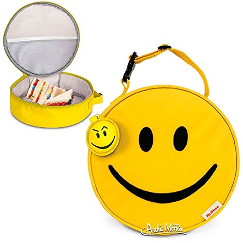 Yellow Smiley Face Soft Insulated Lunch Bag Tote