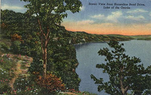 Scenic View from Horseshoe Bend Drive, Lake of the Ozarks Versailles, Missouri Original Vintage - Drive Horseshoe