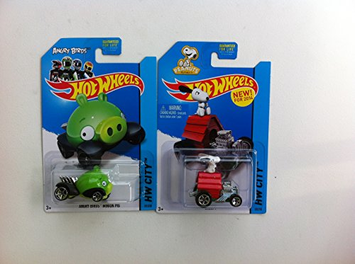 Hot Wheels HW City Peanuts SNOOPY 88/250,Angry Birds Minion Pig 81/250