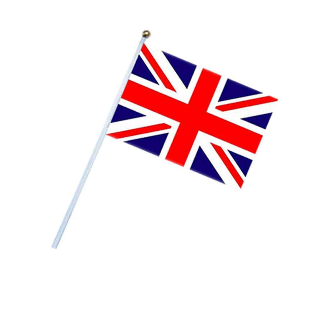 HATABO Wave Flags Party Spring 10PCS Per Set Number 8 British Hand Waving Flag 1421cm Small National Flag