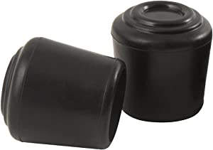 SoftTouch 4440895N Non-Marking Chair Leg Tip Protect Floors from Scratches with Anti-Skid Rubber Furniture, 1-1/4 Inch, Black