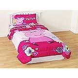 Peppa Pig Full Comforter and Sheet Set