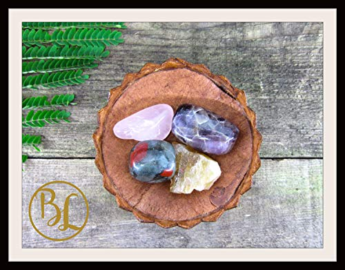 CLEANSING CHAKRAS Gemstone Kit 4 Digestion Stones & Crystals Healing Set Cleansing Chakras Crystals Stone Set Intention Lithiotherapy Stones