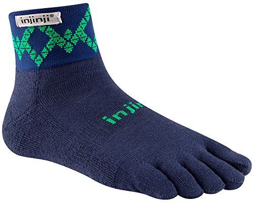Injinji Trail Midweight Mini-Crew Xtralife Socks (Large, - Viper Large