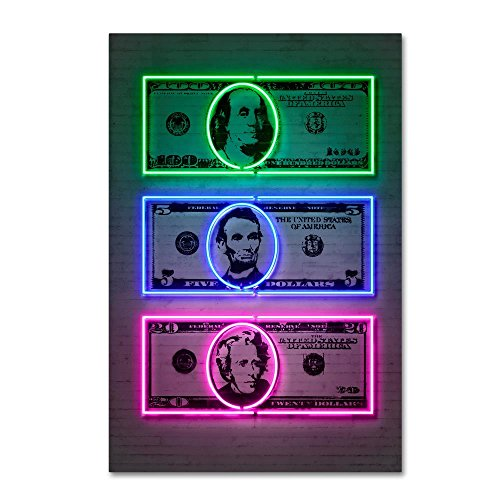 Dollars by Octavian Mielu, 16×24-Inch Canvas Wall Art