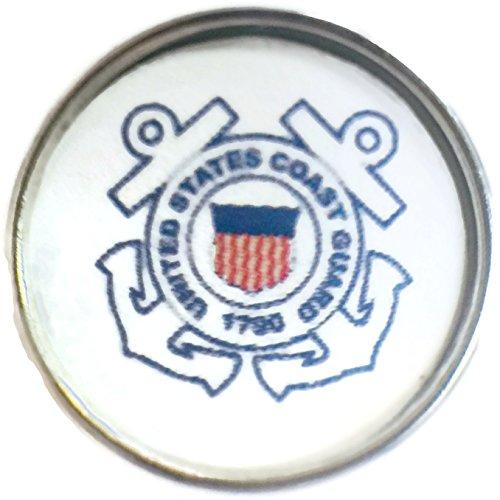 - Snap Jewelry US Military Coast Guard 18MM - 20MM Fashion Snap Charm