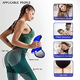 BLAZOR Kegel Exerciser-Hip Trainer, Pelvic Floor Strengthening Device, Workout Equipment for Beautiful Buttocks Bladder/Postpartum Rehabilitation/Lose Weight/Shaping/Fitness…