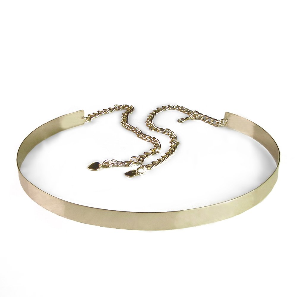 Imixcity®Women Full Metal Mirror Waist Belt Wide Obi