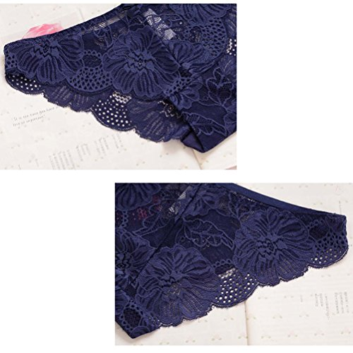 Zhhlaixing Fashion Women Hollow Lace Low Waist Panties Soft Underwear Black