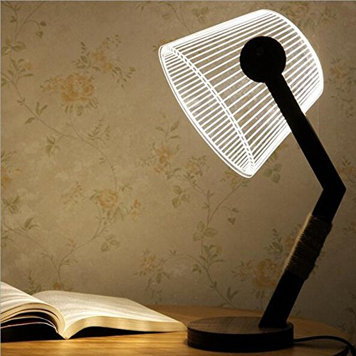 Pegasus 3d forma ovalada LED creativa luz de escritorio lámpara de ...