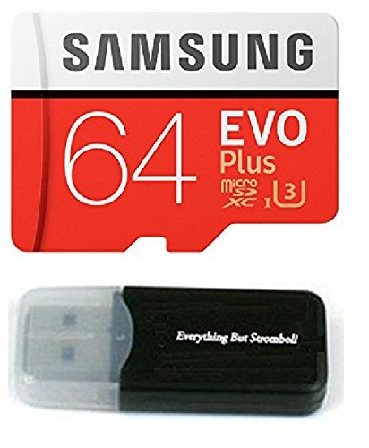 64GB Samsung Evo Plus Micro SD XC Class 10 UHS-1 64G Memory Card for Samsung Galaxy S8, S8+, Note 8, S7 Edge, S5 Active, S4, S3, Cell Phones with Everything But Stromboli Card Reader  (MB-MC64)
