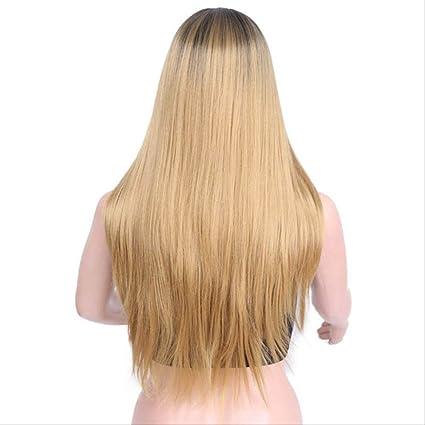 Peluca LLHJ Peluca larga y recta, mezclada con cabello largo ...
