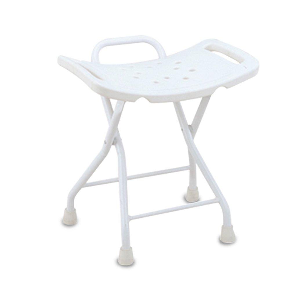 家庭の照明- バスチェアプラスチックシート折りたたみスキッド高齢者の妊婦バススツール51 * 47センチメートル   B07BP4VG71