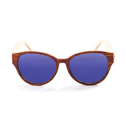 Ocean Sunglasses cool - lunettes de soleil en Bambou - Monture : Bambou - Verres : Revo Bleu (51001.3) 0WwnBE87R