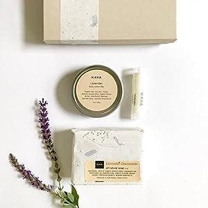 Kaya Lavender Mini Gift Set | 100% Natural Handmade | Bath and Body Gift Set | Bridesmaid gift | Birthday gift | Gift for Her | Gift for Him | Thanksgiving gift | Christmas Gift