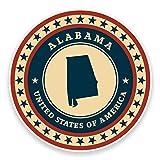 2 x 10cm/100mm Alabama USA Vinyl SELF ADHESIVE STICKER Decal Laptop Car Travel Luggage Label Tag #9360