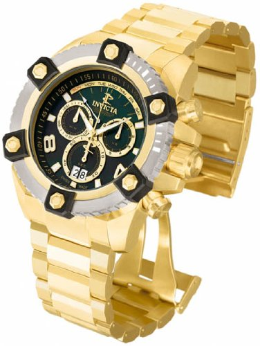 Invicta 80188 Grand Arsenal Reserve 63mm Case Gold Tone Men's  Watch