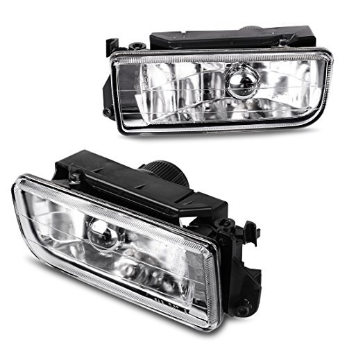 (AUTOSAVER88 Fog Lights H11 12V 55W Halogen Lamp For BMW E36 / M3 3 Series 1992 1993 1994 1995 1996 1997 1998 (Clear Glass Lens w/Bulbs) )