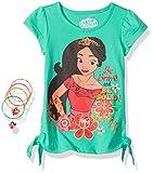 Disney Little Girls' 2 Piece Elena Tee Shirt and Hair accessories, Green, 6