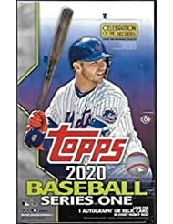2020 Topps Series 1 Baseball Hobby Box (24 Packs/14 Cards 1 Silver Pack, 1 Auto or Relic)