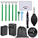 Essential Bundle Sensor Cleaning Kit with Battery & Charger + LED Loupe Bundle for Sony Alpha A7 III, A7R III, A9 Digital Cameras