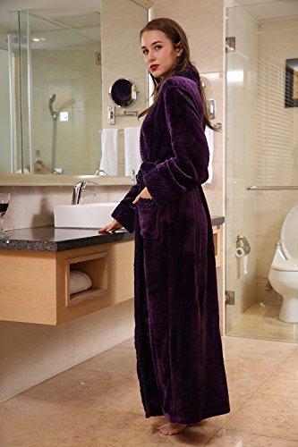 Viola Vestaglia Coral in Sauna Uomo Pile Veste Lunga Unisex Vestiti Insun Accappatoio Cappotto Donna Morbido qw6gxUZ