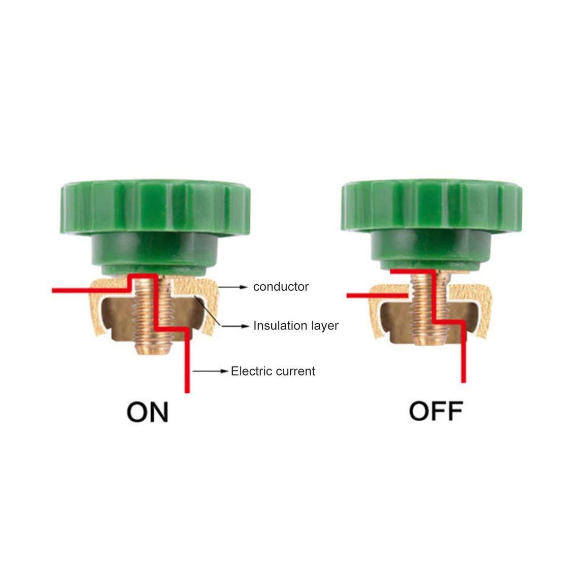 17mm Coche Moto Bater/ía Terminal Enlace Interruptor de corte r/ápido Desconexi/ón rotativa Aislador Cami/ón de autom/óvil Autopartes de veh/ículos