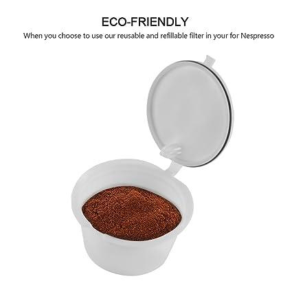 Vvciic Cápsulas de café para Dolce Gusto de plástico Reutilizable ...