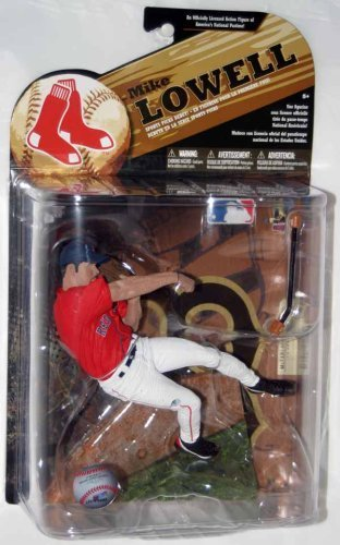 Variant Mcfarlane Toys - Mcfarlane MLB Series 24 Mike Lowell Red Jersey Variant Action Figure by McFarlane Toys