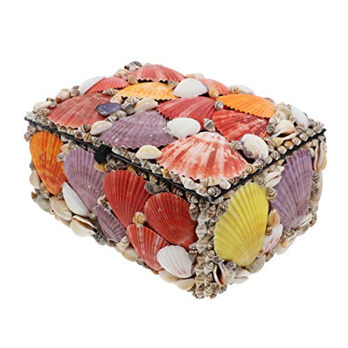 Li'Shay Large 9 Inch Rectangle Shell Covered Jewelry Box - Natural -