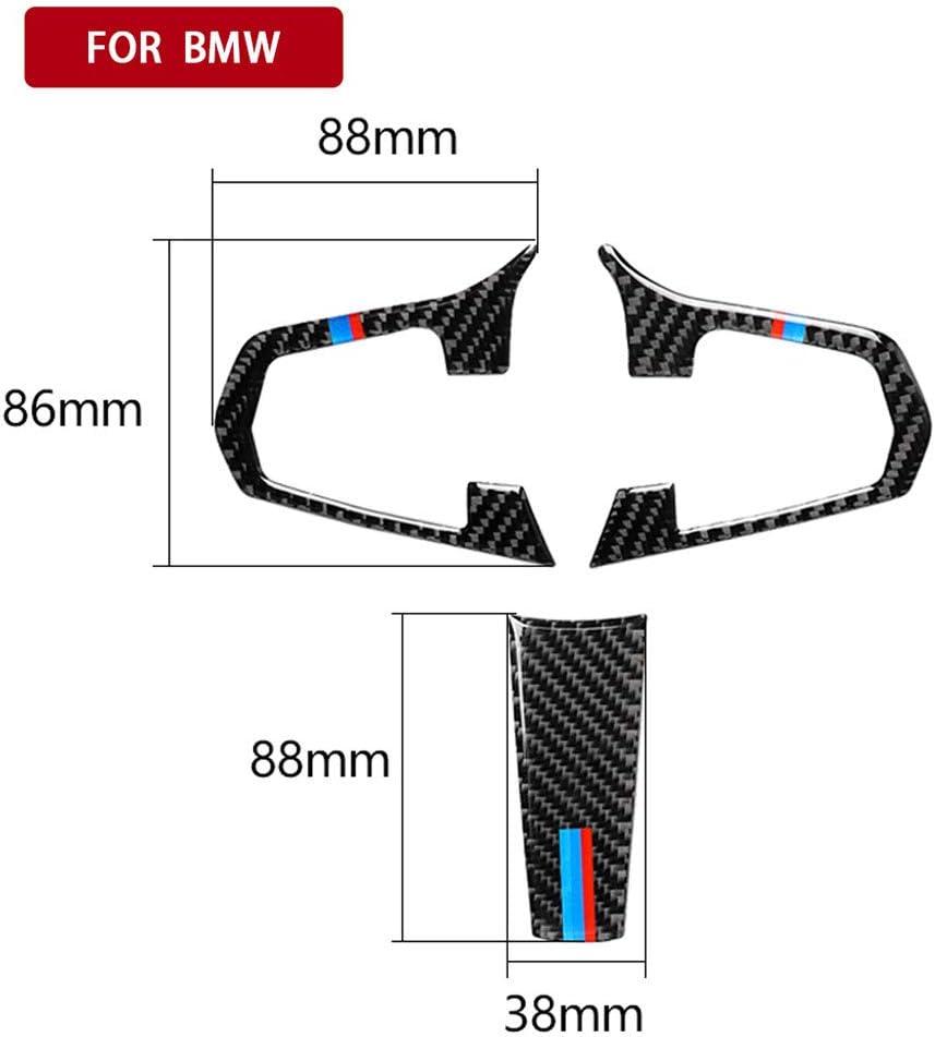 G38 ZHCOM Auto LenkradaufkleberDekorativer,f/ür BMW 5er G30 BMW X3 G01 G08,ABS Carbon KohlefaserAuto Lenkrad Dekoration Rahmen Abdeckung Knopfleiste Upgrade Aufkleber