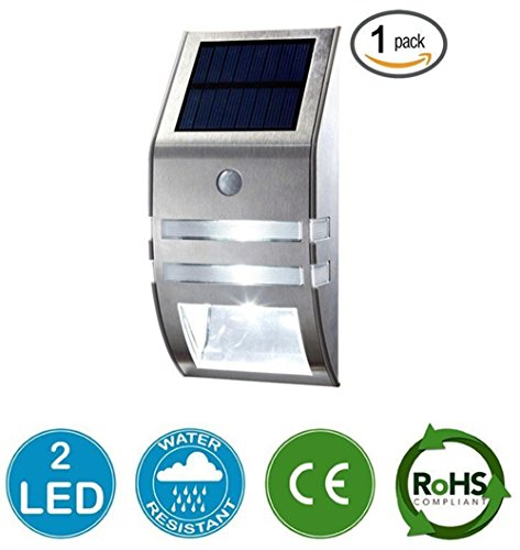 Cheap [BIG PROMOTION] YINGHAO Solar Light, Wireless Bright Solar Powered Motion Sensor Light, Outdoor Light Security Light, For Patio Deck Yard Garden Home Driveway Stairs Wall Pathway (1 Pack, Sliver)