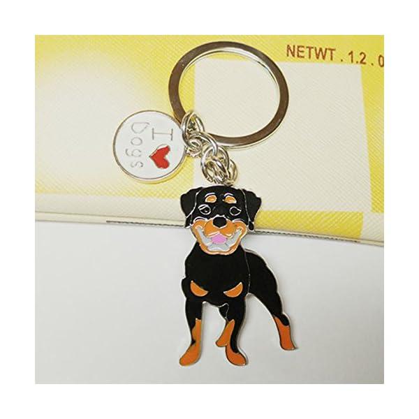 BBEART Dog Keychain ring, Cool Cute Pet Dog Keyring Bag Charm Mini Metal Key Ring Keyfob 3