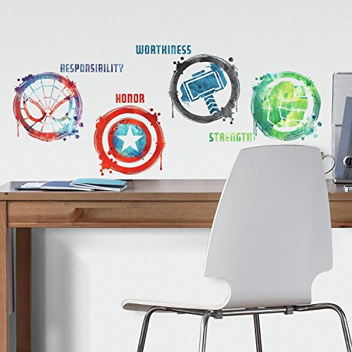 RoomMates RMK3583SCS Marvel Icons Peel and Stick Wall Decals